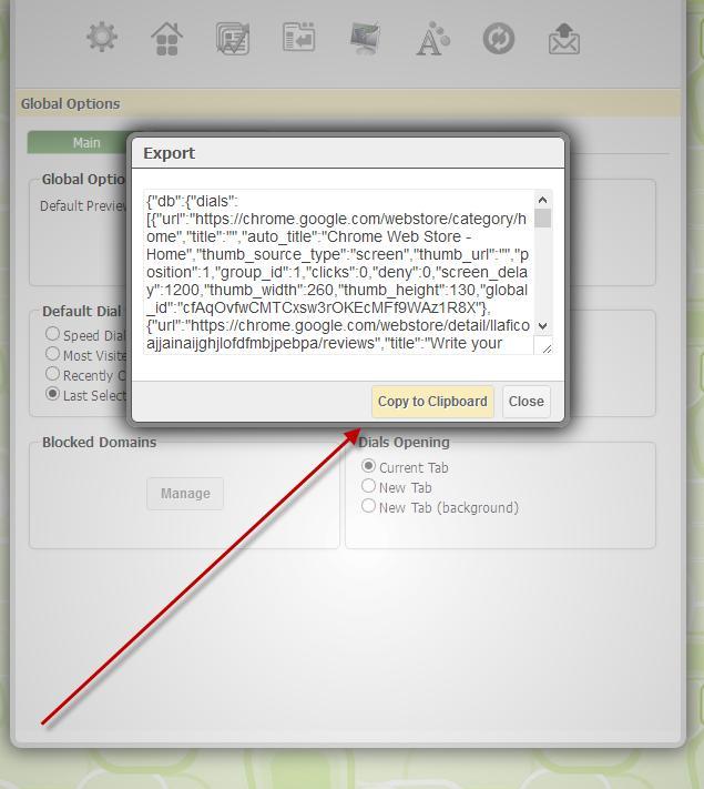 Everhelper - How to make backup in FVD Speed Dial for Google Chrome